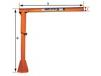 LIGHT DUTY PILLAR BASE MOUNTED JIB CRANE