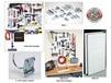 LOCBOARD® STEEL PEGBOARD & LOCHOOK® LOCKING PEGBOARD HOOKS